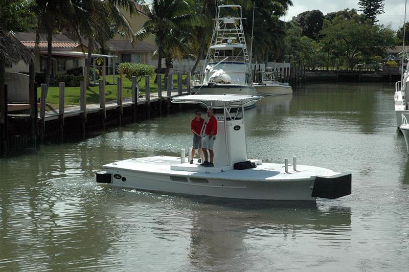 Dusky 26 in use as a tug vessel