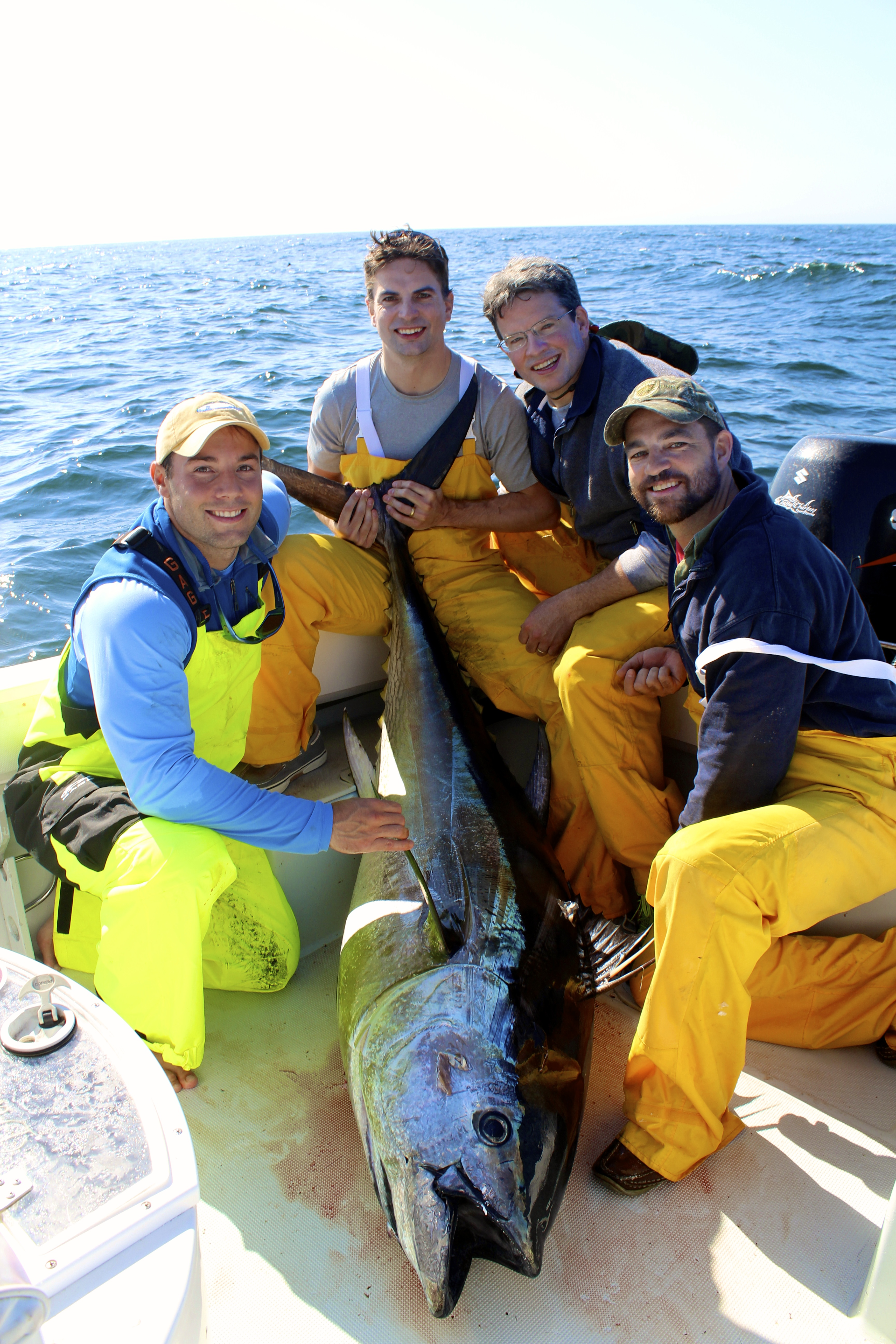 Despite the slow fishing we still managed to hang a few heavyweight bluefin on the light gear!